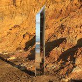 Un nouveau monolithe en métal fait son apparition sur une plage britannique - photos - Wikistrike
