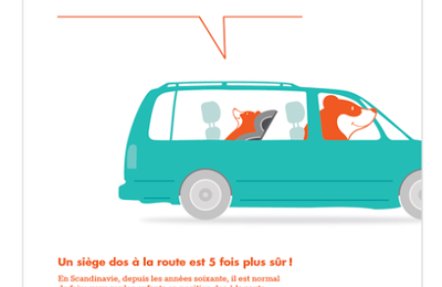 "Campagne Klippan pour le Rear facing ""une question de bon sens "" !"