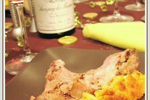 Carré d'agneau en croûte de parmesan