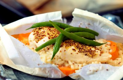 Poulet et légumes à la Dijonnaise