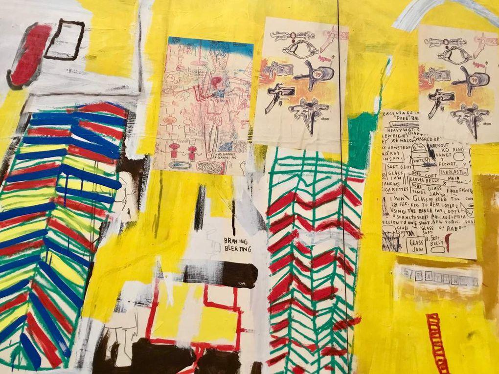 Sans titre, vers 1984-1985, Acrylique et collage sur papier marouflé sur panneau alvéolaire, Collection particulière