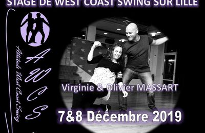 Stage West Coast Swing Lille - Olivier et Virginie Massart - 7 et 8 décembre 2019