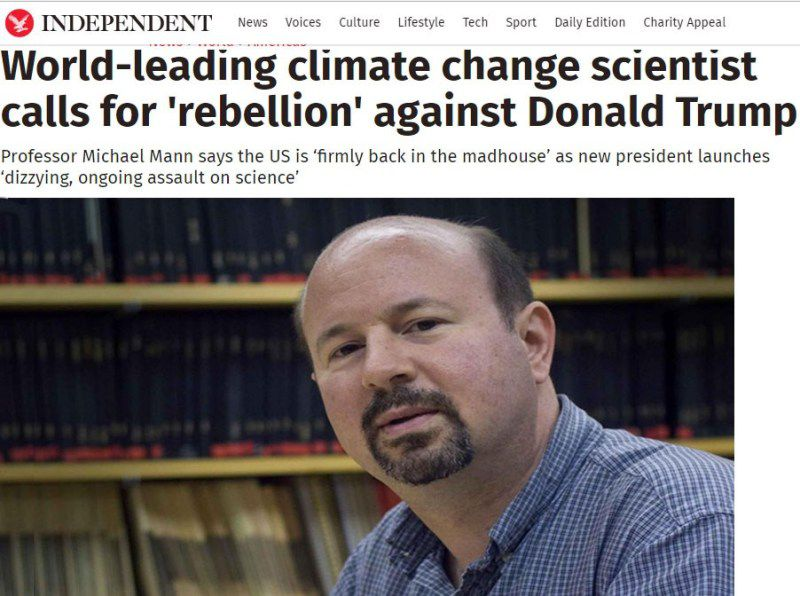 "Michael Mann, ""leader scientifique sur le changement climatique"", menant l'assaut contre Donald Trump"