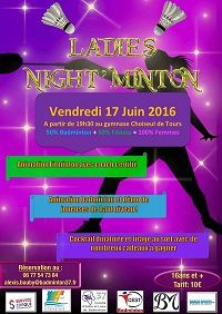 Ladies Night'Minton : Le retour 17/06