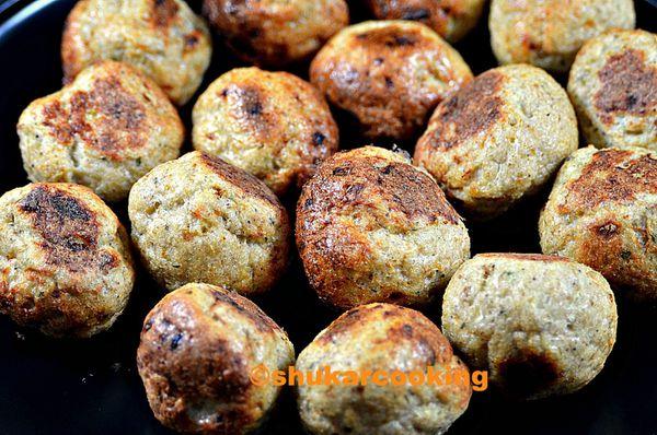 Boulettes poulet, thym & ail