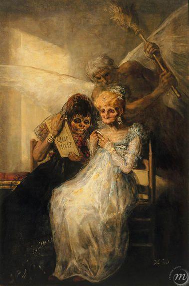 Le temps ou les vieilles - F. de Goya