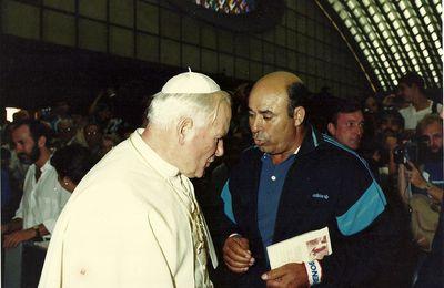15 juillet 1987 , le jour ou Mr Brahim Sadouni rencontra le pape Jean Paul II