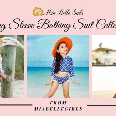 Mia Belle Girls Long Sleeve Bathing Suit Collection to Wear All Summer Long