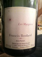 "Francis Boulard - Champagne ""Les Murgiers"" Brut Nature"