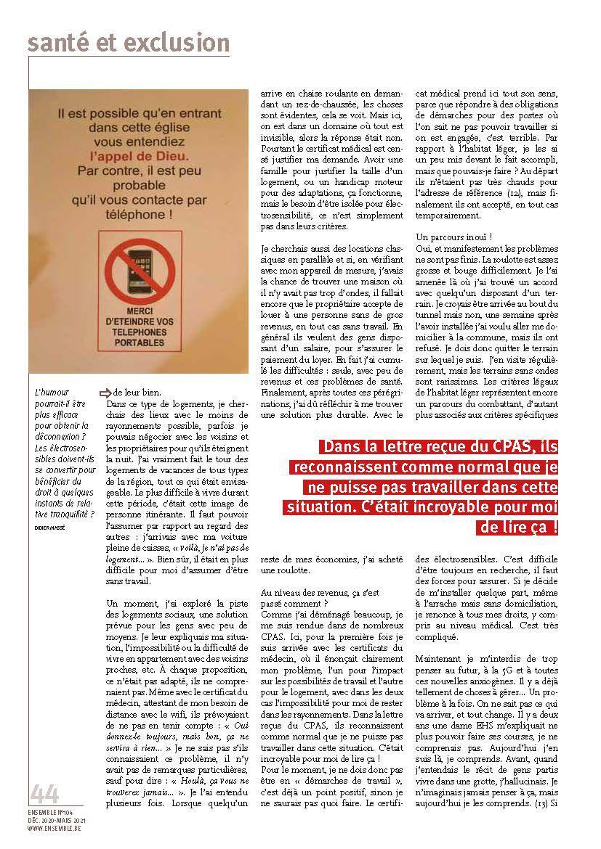 L'exclusion sociale par la pollution électromagnétique