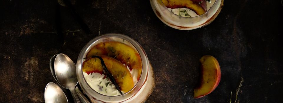 Verrines tiramisu aux pêches et abricots