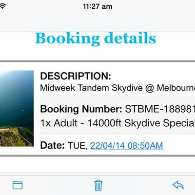 Booked my Skydive!!!♥