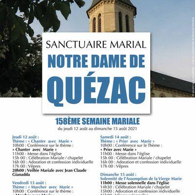 158ème semaine mariale du sanctuaire Notre-Dame de Quézac