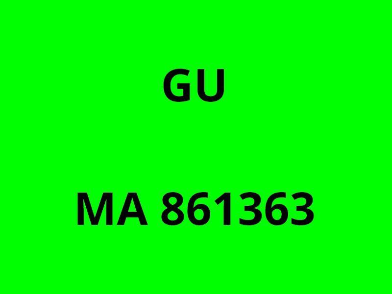 GU  MA861363 , a quai dans le port de la Ciotat le 23avril 2017