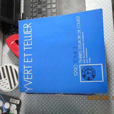 Catalogue Yvert et Tellier. 1990. Tome 3. Timbres d'Europe de l'Ouest