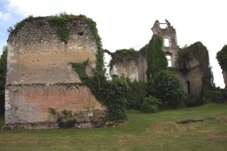 Les importantes ruines du château de Vaujours, bien offert à Loise de la Vallière par Louis XIV.