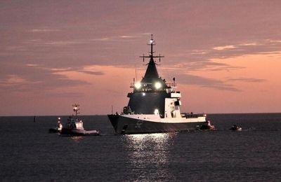 Naval Group : le premier des 3 patrouilleurs hauturiers construits pour l'Argentine effectue sa première sortie en mer