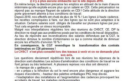 La CGT Unilever BESTFOOD KNORR DUPPIGHEIM 2 appelle à la Grève