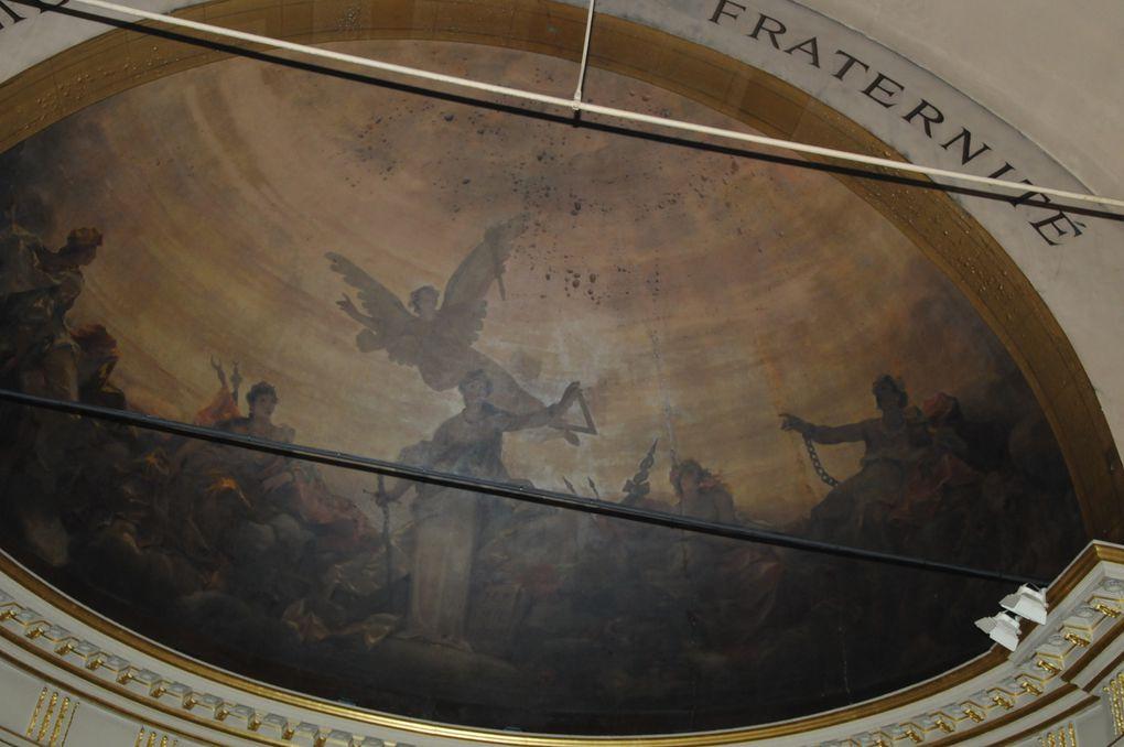 Le 19 septembre 2009, un incendie s'est déclaré aux abords du Temple Arthur Groussier et a détruit un tiers de sa surface, du plancher à la toiture. Crédit Photos Brahim Drici, Gérard Contremoulin et Jean-Laurent Turbet.