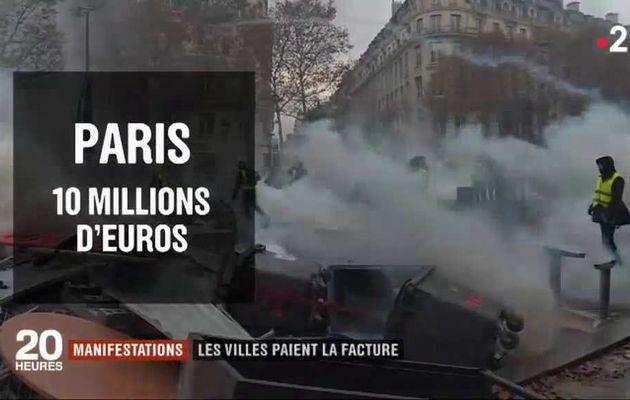 Gilets jaunes : Combien vont devoir dépenser les villes pour réparer les dégâts causés par les manifestations ?