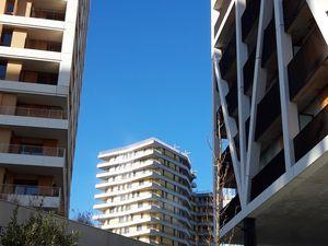 Chapelle International  -  Vues sur l'immeuble lot B, 1 soho et le chantier du square  -  Photos ASA PNE  -  Février 2020