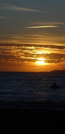 Coucher de soleil sur la Presqu'île du Cap-Ferret...