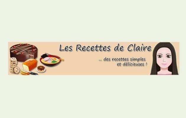 Les recettes de Claire