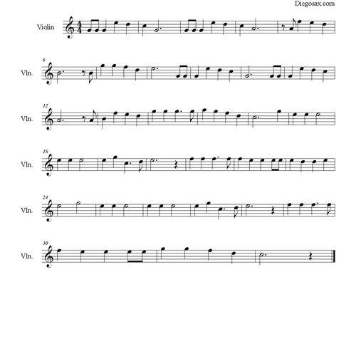 Partitura De La Cancion Dulce Navidad Jingle Bells Villancico De Navidad Las Notas De Nana