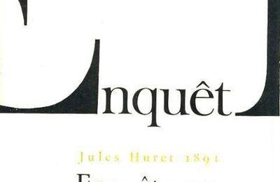 """Jules Huret """"Enquête sur l'évolution littéraire"""" (Bibliothèque Charpentier - 1891)"""