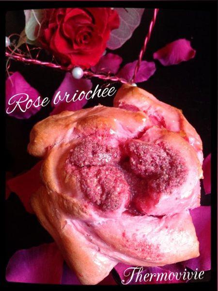 Rose briochée au coeur crémeux de pralines roses