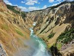 YELLOWSTONE NP: Brinks of the Lower Falls