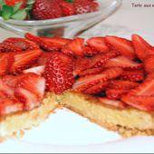 Tarte aux fraises, Crèmes aux amandes - http://www.petitsplaisirs.org/