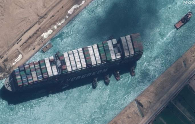 Egypt expects $1 billion in damages over stuck ship in Suez
