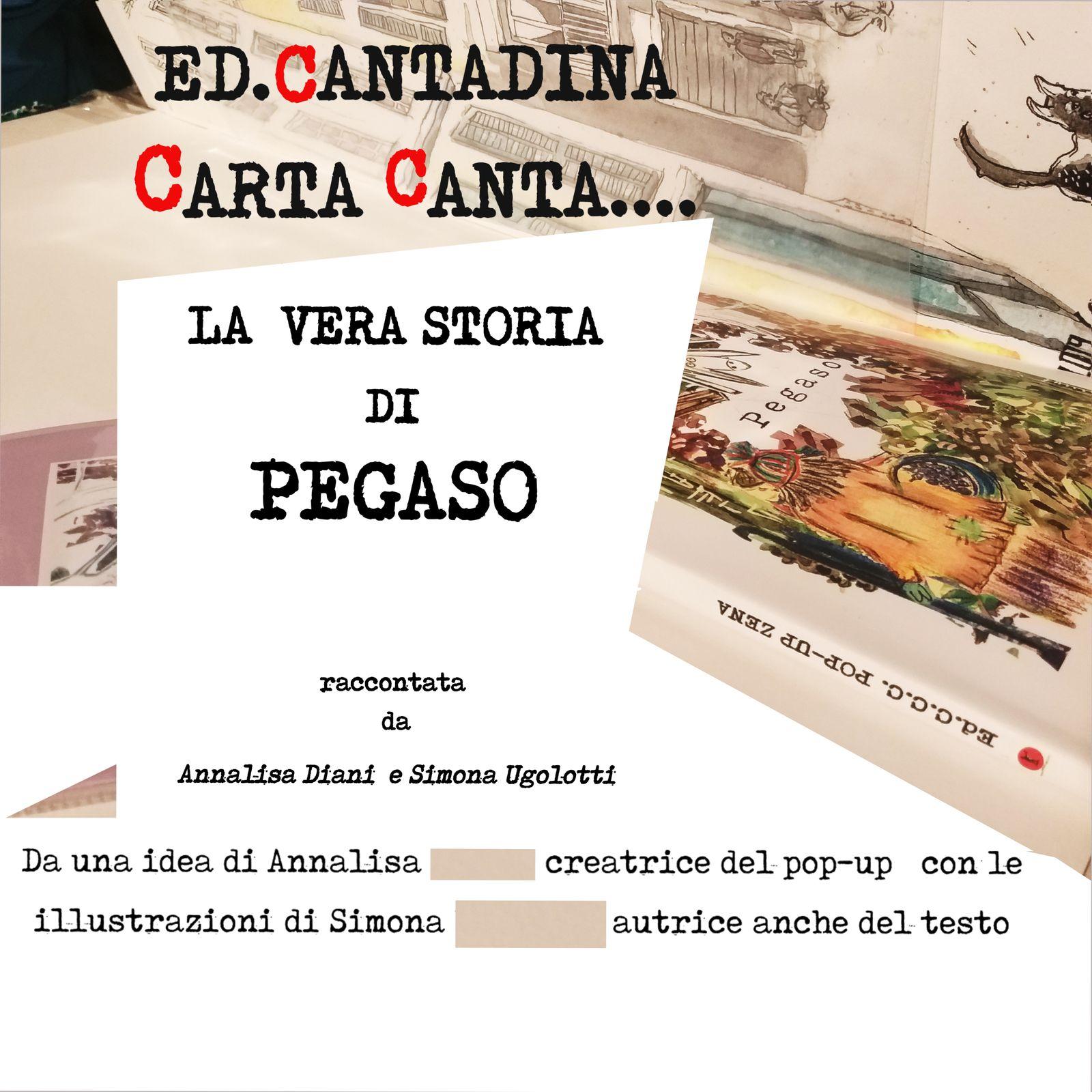 Libro Pop-Up con la vera storia di Pegaso l'asinello