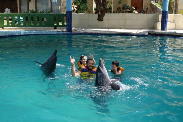 J'ai nagé avec des dauphins...