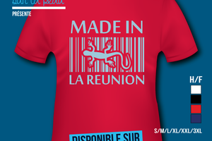 T-shirt: France - L'île de la Réunion 974 - Made in La Réunion.
