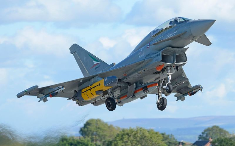L'Eurofighter Typhoon tire son premier missile de croisière Storm Shadow