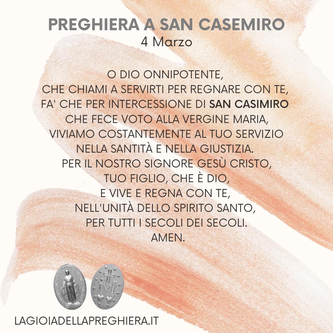 4 Marzo : San Casimiro - Preghiera e vita