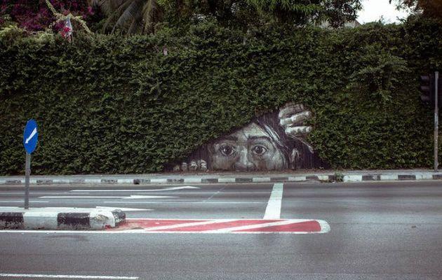 Quand le street-art tient compte de son environnement