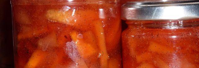 Confiture de poires et coings aux épices