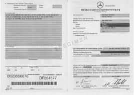How to get a Mercedes certificate of conformity