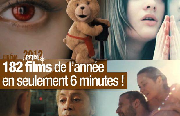 RETRO 2012 / 182 films de l'année en seulement 6 minutes !