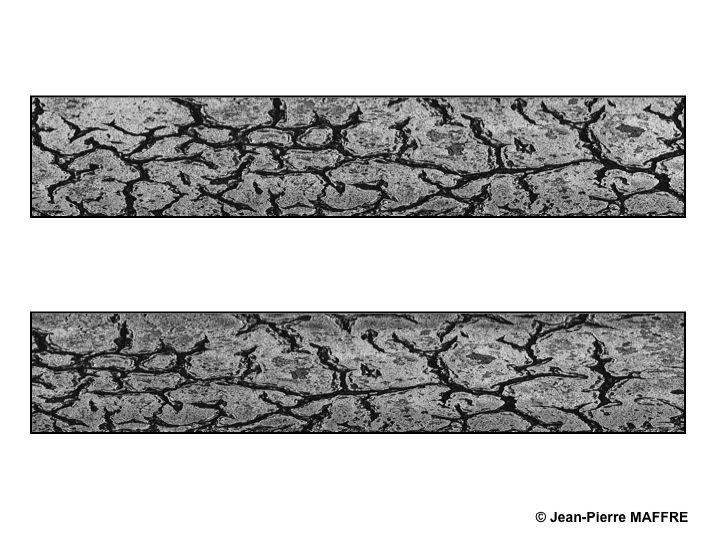 Les surfaces mouvantes d'un espace concrêt donnent l'impression d'un univers abstrait.