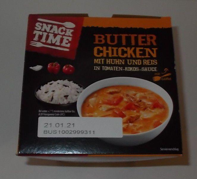 Aldi Snack Time Butter Chicken mit Huhn und Reis