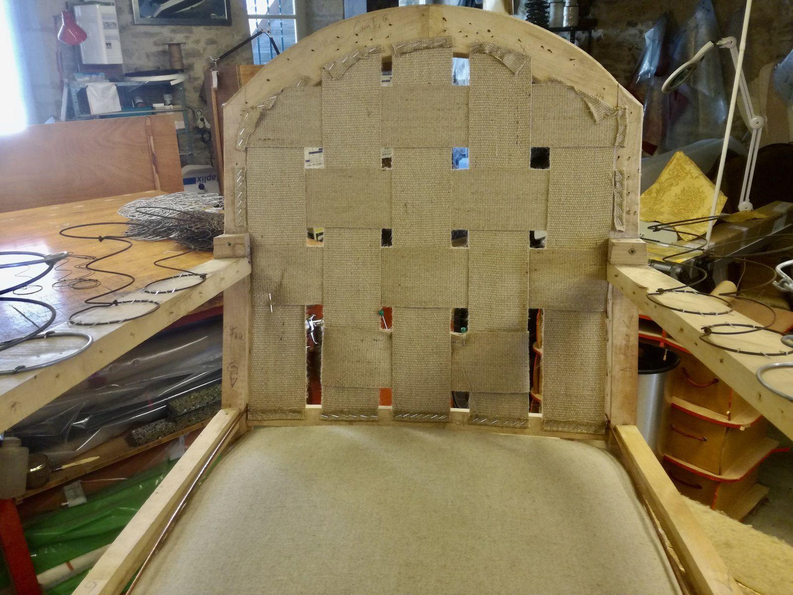 Réfection complète fauteuil Club - Atelier Hafner Surgères 17 Charente maritime