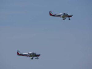 L'Aéro-club Jean Maridor présentait sa patrouille avec les deux Robin HR-200.
