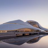 MAD architects' fluid-formed harbin opera house opens in china