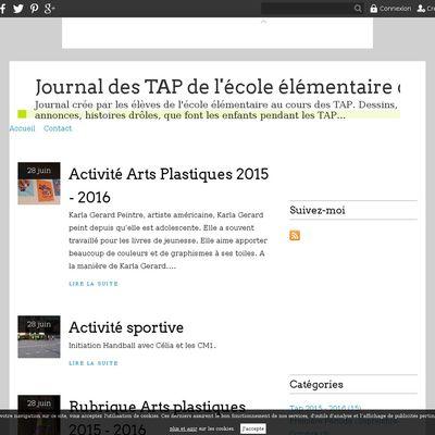 Journal des TAP de l'école élémentaire de Pont-Salomon