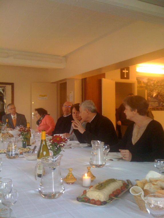 Déjeuner du 30 01 2011 le conseil pastoral avec Mgr Aumonier