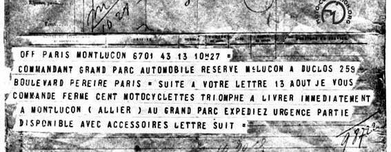 La moto dans la guerre 1914-1918 (archives retrouvées - 2)